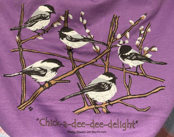 Chickadee t purple